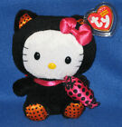 TY HELLO KITTY BEANIE BABY in BLACK CAT HALLOWEEN COSTUME - MINT with MINT TAG