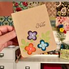 Stampin UP Handmade HELLO Card Stamped Flower Greeting + Envelope