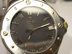 Mens Ebel SPORTWAVE Stainless Steel Date Watch with Black Dial E6187631
