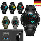 Kinder Digital Uhr LED Armbanduhr Sport Outdoor mit Wecker/Timing Wasserdicht DE