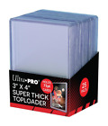 3 x 4 Super Thick Baseball Card Toploaders Holds 75pt Cards