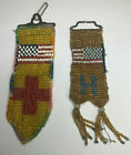 HAND BEADED STANDING ROCK SIOUX SD Native American USA Flag Badges