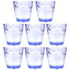 8 Piece 10 Oz Unbreakable Drinking Glasses Kids Safe BPA Free Acrylic Tumblers