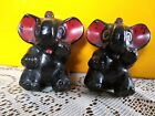 Sweet Vintage Elephant Salt  Pepper Shakers 3 inches x 3 inches