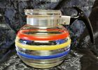 HTF Rare Vintage McKee Glasbake Multi-Color Rings Coffee Pot Teapot Range Tec