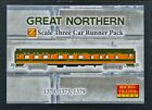 Z SCALE MICRO TRAINS Great Northern Passenger Three Pack 994 00 032