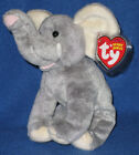 TY POUNDER the ELEPHANT BEANIE BABY - MINT with MINT TAGS