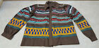 GOOD CONDITION LARGE 3 PATTERN SEMINOLE PATCHWORK NATIVE AMERICAN INDIAN JACKET