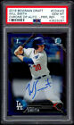 2016 BOWMAN CHROME PURPLE REFRACTOR WILL SMITH RC SP AUTO 250 DODGERS PSA 10