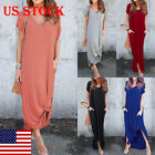 USA Plus Women Summer Beach Sundress Boho Evening Party Cocktail Long Maxi Dress