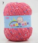 Balls 50g Soft Yarn Worsted Point Silk Protein Weave Cashmere Crochet Knitting