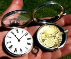 Rare SILVER PAIR CASED ENGLISH VERGE Fusee POCKET WATCH From 1790 Works