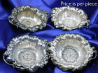 REED  BARTON STERLING SILVER LES SIX FLEURS POPPY NUT DISH EXCELLENT COND