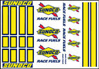 1:64 SCALE HOT WHEELS RACING STRIPES SUNOCO RACING WATERSLIDE DECALS
