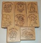 Stampin Up Retired Wood Mounted NICE  EASY NOTES Birthday Thanks Get Well Mouse