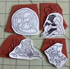 4 Unmounted Rubber Stamps VINTAGE IMAGES Babies  Toddlers