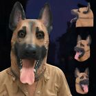Dog Head Mask Latex Halloween Masquerade Cosplay Costume Funny Full Face Mask US
