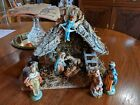 Vintage Italian Nativity Christmas Manger Scene 8 figurines Italy ornament