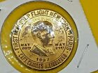 1927 Lucky Lindy Charles Lindbergh Good Luck Commemorative Flight Coin Token