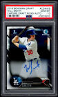 2016 BOWMAN CHROME AUTOGRAPH WILL SMITH RC SP AUTO DODGERS PSA 10 GEM MINT (580)