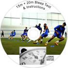 BLEEP TEST Multi Stage Shuttle Fitness Run Audio CD 15m 20m Police Armed Forces