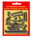 Stainless Philips Engine Covers Kit - Kawasaki KMX125