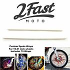 2FastMoto Spoke Wrap Kit White Skins Wraps Covers Spoked Wheel Rim Suzuki