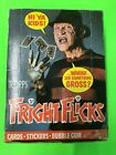 1988 Topps Fright Flicks Trading Card Box 36 Unopened Wax Packs Freddy Kreuger
