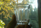 1860 CLEAR PONTILED WHISKEY SHOT GLASS 8 ARCHED PANELS ROUGH PONTIL