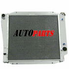 2 Row Aluminum Radiator For Ford Bronco Wagon Roadster 50L V8 MT Cars 1966 1977