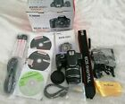 CANON CAMERA EOS 450D DIGITAL BATTERY CHARGER STRAP BOXED ZOOM LENS SLR