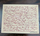 Cursive Handwriting Background Wood Mounted Rubber Stamp NEW words text poem