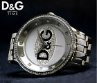 Dolce And Gabbana D&G Unisex DW0131 Prime Time Silver Dial Watch