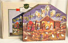 Byers Choice Wooden Nativity Advent Calendar New FREE SHIPPING