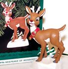 1996 NEW Christmas HALLMARK Club Ornament RUDOLPH the RED Nosed REINDEER MIB Lig
