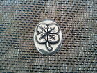Your LUCKY FOUR LEAF CLOVER GOOD LUCK 1 POCKET COIN PEWTER All New