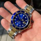 Rolex Submariner Date 16613 Two Tone Blue Steel 18K Gold Watch Box Papers