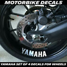 FOR YAMAHA WHEEL DECALS STICKERS X 4 MT  YZF R1 R6 M1 THUNDER R125