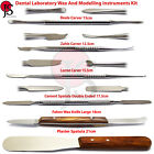 Dental Laboratory Modeling Tools Kit Wax Knife Waxing Carver Plaster Spatula Lab