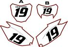 2019-2020 HONDA CRF250-F Pre-Printed Backgrounds White with Red Pro Pinstripe