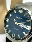 Seiko Men's Automatic SNKN03 Watch Stainless Steel Day Date Blue Dial 7S26-04C0