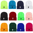 19 Color Stickman Beanies Casual Warm Embroidery Knitted Winter Hat Skullies Cap
