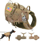 Tactical Dog Harness with Pouch Patch Large Breed K9 Military Molle Service Vest