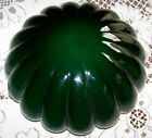 Antique green white cased glass melon ribbed lamp light shade 10 fitter