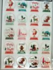 Christmas Snow Globes Gingerbread Man Fox Noel Santa Claus PC Epoxy Stickers