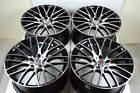 4 New DDR Zuki 18x8 5x1143 40mm Black Polished 18 Rims Wheels