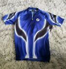 Castelli Cycling XL Jersey Thermal Italy Blue Vintage Rare Big Logo Vtg RoadBike