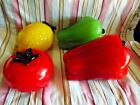Murano Hand Blown Glass Vegetables  Fruit Heavy Quality Work LK