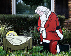 Christmas Outdoor Nativity Santa Baby Jesus Father Christmas Yard Decor Garden