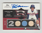 2006 TOPPS STERLING ROD CAREW 2JERSEY 2BAT AUTO AUTOGRAPH S N 04 10